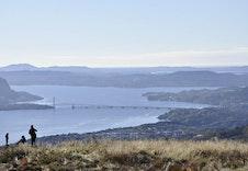 Gladihaug - med utsikt mot Osterfjorden og Nordhordlandsbrua