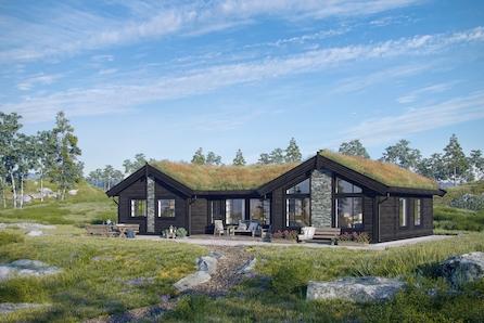 Tenk deg å kunne nyte fridagene dine her på denne hytta!