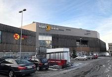 Amfi senter på Råholt med flotte forretninger og hyggelige spisesteder.