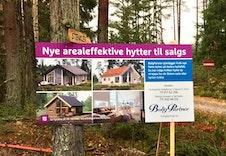 Velkommen til Aabru Hyttefelt (Skilt ved bom inntil hyttefeltet)