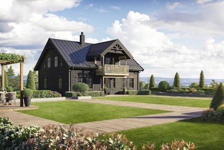 Flott familievennlig hus i nytt boligfelt