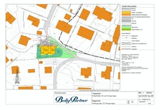 Områdeplanen for Leknestunet. Her viser det hvor 4-mannsboligen blir plassert.