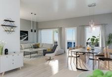 Illustrasjon av stue i leilighet A305
