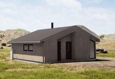 Illustrasjon av hyttemodell Magna Ferentis Mini. Bildet vil avvike fra virkelig miljø og omgivelser.