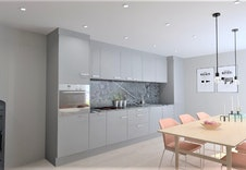 Inkludert i prisen er komplett kjøkken fra Sigdal med hvitevarer fra Bosch