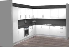 Kjøkken med hvitevarer leilighet 3 og 4