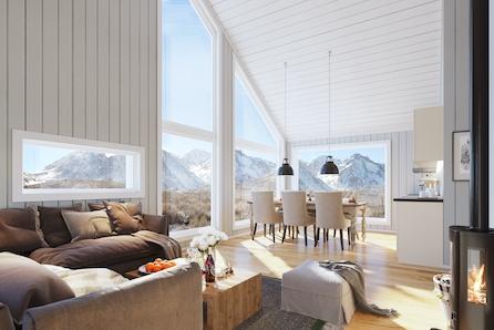 Ønsker du hytte i fantastiske omgivelser med gode solforhold?
