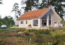 Bildet er en illustrasjon som viser omtrentlig plassering av hytten på tomten. Bildet vil avvike fra virkelig miljø og omgivelser.