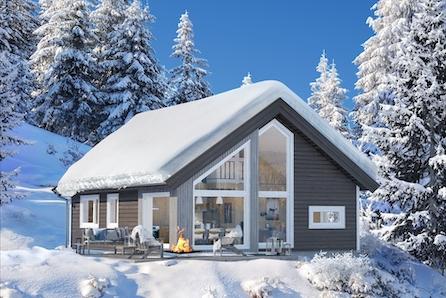 Skagahøgdi, moderne og arealeffektiv hytte m/hems på toppen av skisentret, ski inn/ut, 15min til Gol, fine turområder
