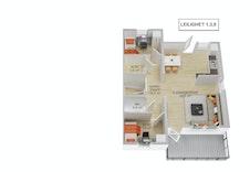 Hovedplan leilighet 1,3,5
