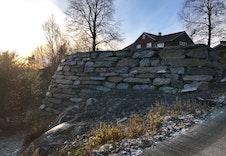 Flott natursteinsmur
