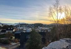 Flott utsikt til Leirvik.