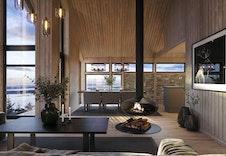 Illustrasjon av hyttemodell Magna Ferentis. Bildet vil avvike fra virkelig miljø og omgivelser.