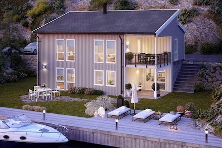 KONGSVINGER - Langeland - NY moderne enebolig med mulighet for 2 hybler på nylig fradelt boligtomt.