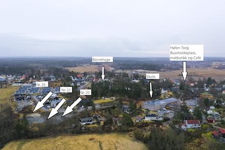 Hølen - Byggeklar eneboligtomt 746m2 - Gangavstand til barnehage, skole og nærbutikk.