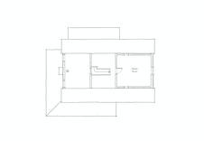 Hemsplan, gulvareal ca 38 m2.