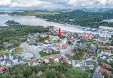 Oversiktsbilde som viser plassering av Notveien 7B i herlige Hommersåk!