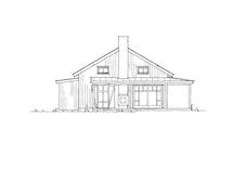 """Fasadetegning 2 av hytten """"Nue"""""""