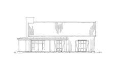 """Fasadetegning 1 av hytten """"Nue"""""""