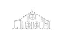 """Fasadetegning 4 av hytten """"Nue"""""""