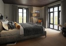 Illustrasjon: Tenk å våkne opp her i dette romslige soverommet, legg merke til vinduene