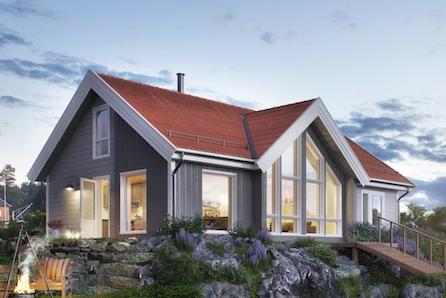 NYSETRA - Nøkkelferdig, praktisk og moderne familiehytte m/hems.  Tomt, grunn- og betongarbeid, er inkludert!