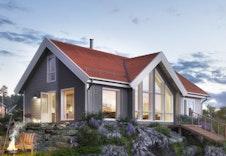 Hytte i Sogndal Skisenter - Hodlekve. (Illustrasjon: Nysetra frå BoligPartner)