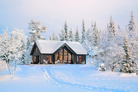 Turufjell - Tomt/grunnarbeid og komplett nøkkelferdig hytte med hems. Totalt gulvareal på 122 m2 gulvareal.