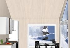 Illustrasjon: Aubo-kjøken, inkl. alle kvitevarer og montering.