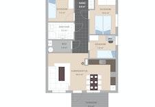 Plantegning leilighet 3