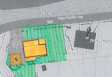 Forslag til plassering av en eventuell husmodell Aragona