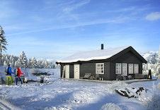 Hytte i Sogndal Skisenter - Hodlekve. (Illustrasjon: RO frå Boligpartner)