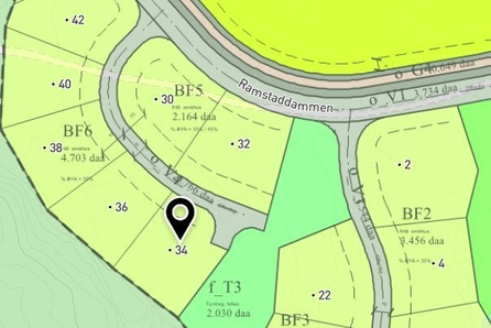 Nannestad // Ramstadåsen: Stor og fin byggeklar ene- eller 2 mb tomt // Flott beliggenhet nært marka