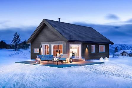 Prosjektert hytte bare 2 minutters kjøring fra Eikedalen Skisenter. Flotte turmuligheter rett utenfor hyttedøren!
