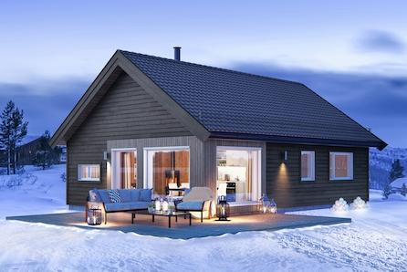 Raudfjellet - en moderne prosjektert hytte fra Tur-serien i et tidsriktig design.