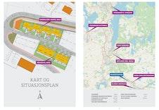 Kart over plassering av hus