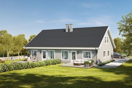 Nøkkelferdig tomannsbolig med 4 soverom og 2 bad i Åsbygda. 4 innvendige boder!