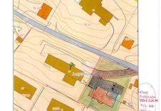 Skissert situasjonskart med huset Venezia variant inntegnet.