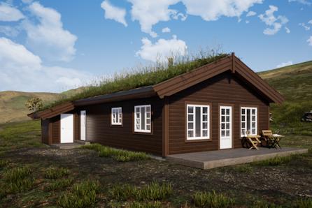 KAMPANJE! Prosjektert hytte - Skogblikk på Felt P Budor