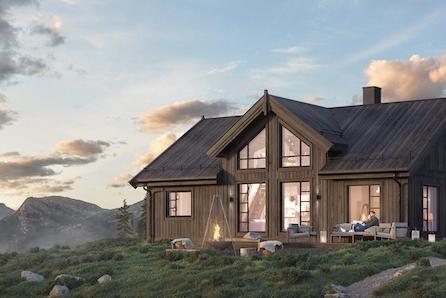 Boligpartner skal bygge hytter på Bjorli! Sjå denne flotte familiehytta!
