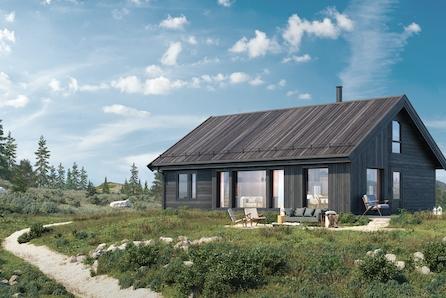 Ny flott familehytte inkl tomt og båtplass ved Storsjøen i Nord-Odal
