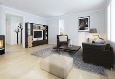 Illustrasjon av stue i en lignende bolig