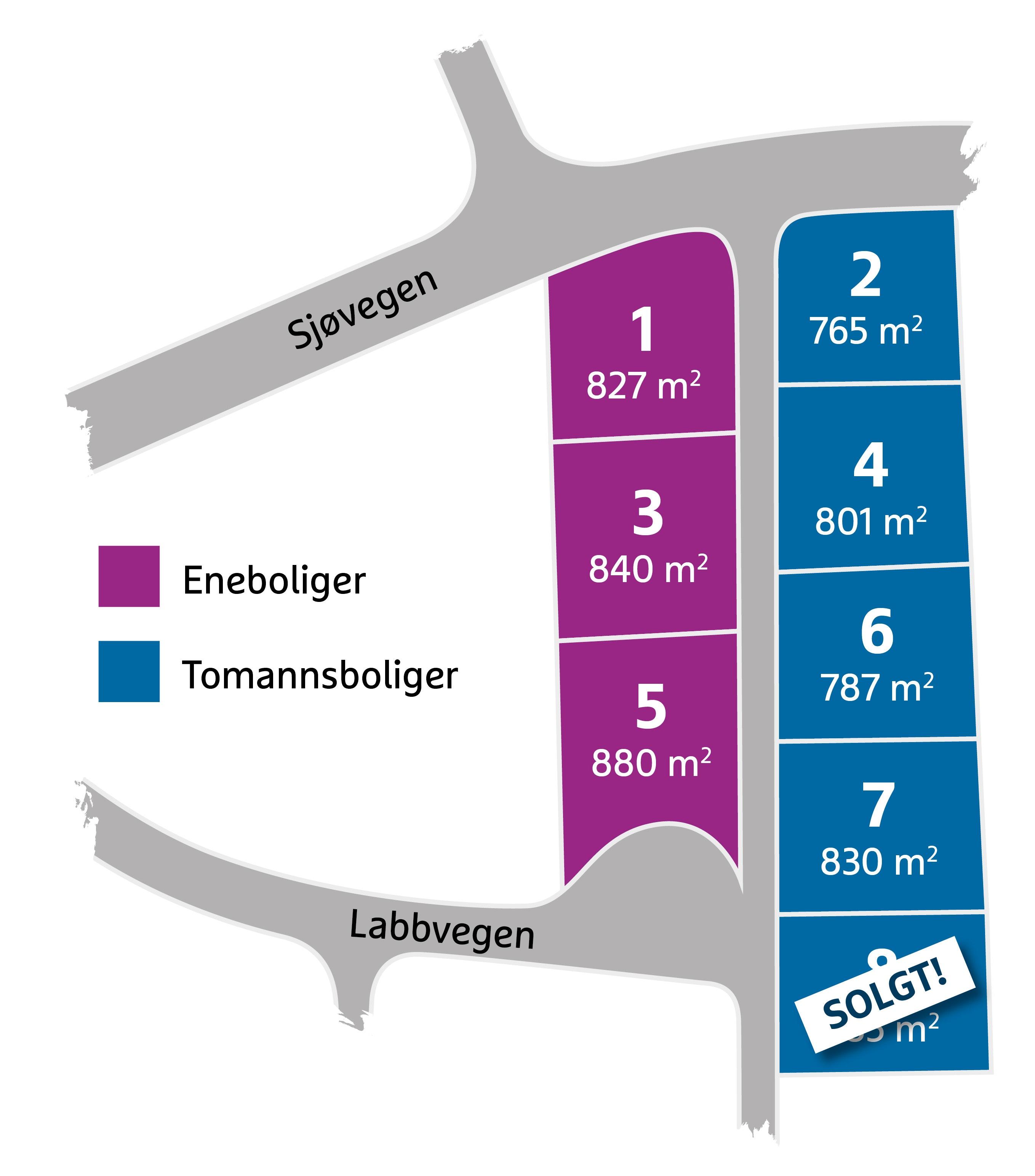 Tomter til salgs i Stange kommune - 3 flotte byggeklare tomter i landlige omgivelser i Åsbygda.