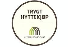 """Vi er med i ordningen """"Trygt Hyttekjøp"""", en trygghet for våre kunder! Se tekst i annonsen."""