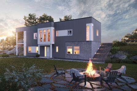 Kongsvinger - Langeland. Nytt funkishus på tomt med panorama utsikt og utleiemulighet.