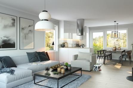 Flytt inn i splitter ny bolig på Gjekstad i april og få møbelpakke verdi kr 50.000,- på kjøpet.