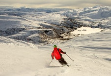 Eikedalen skisenter ligger kun 2 minutters kjøring fra hytten. I Eikedalen skisenter kan man boltre seg i ca. 30 alpinløyper og her finner man Nord-Europas lengste stolheis til 940 m o.h. Se www.eikedalen.no.
