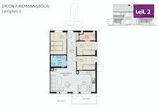 Plantegning av leilighet 2