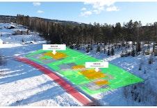 Illustrasjon av plassering av boligene - Illustrasjonen vil avvike fra virkelig miljø og omgivelser.