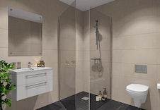 3D-illustrasjon interiør bad/vask